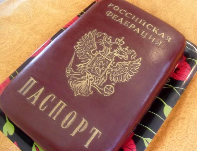 Торт с картинкой паспорта для девочки