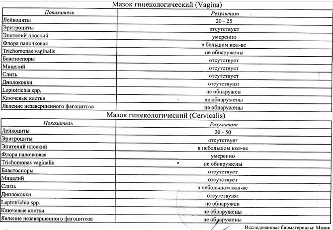 Лейкоциты в мазке у беременной норма 84
