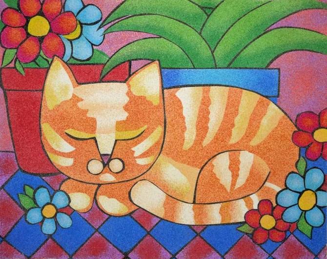 Картина из цветного песка своими руками 801