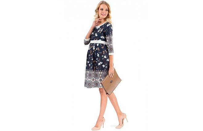 Платье «Мирелла» синее для беременных и кормящих, I Love Mum, 3 350 рублей. 59eaf473f41