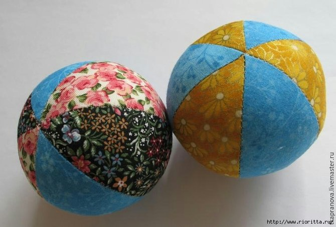 Мячики для метания своими руками 18