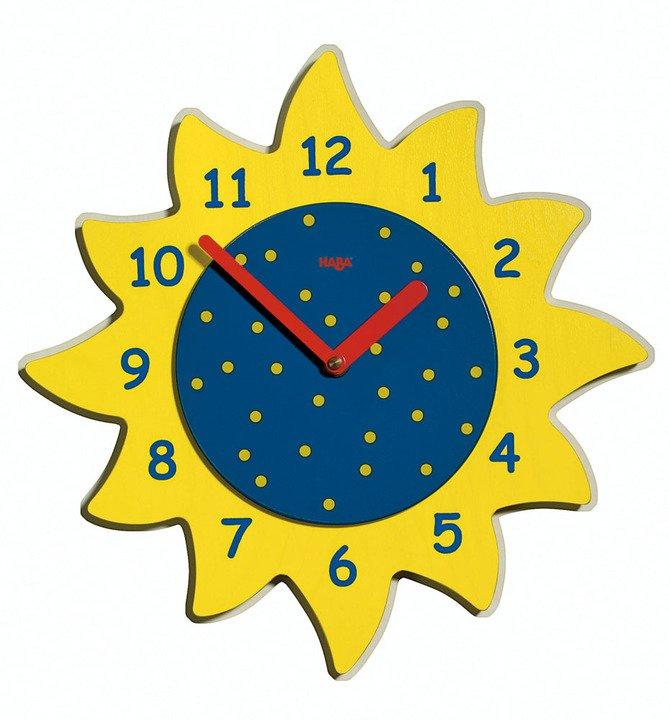Детские яркие часы в мультяшном стиле круг.