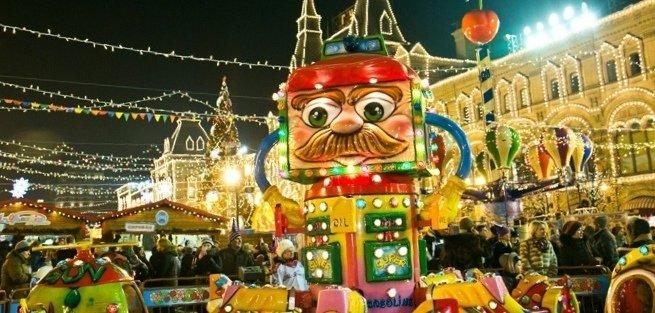 На Красной площади открылась первая рождественская ярмарка