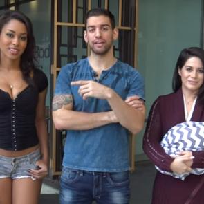 Видео: сексуально одетая женщина против кормящей мамы