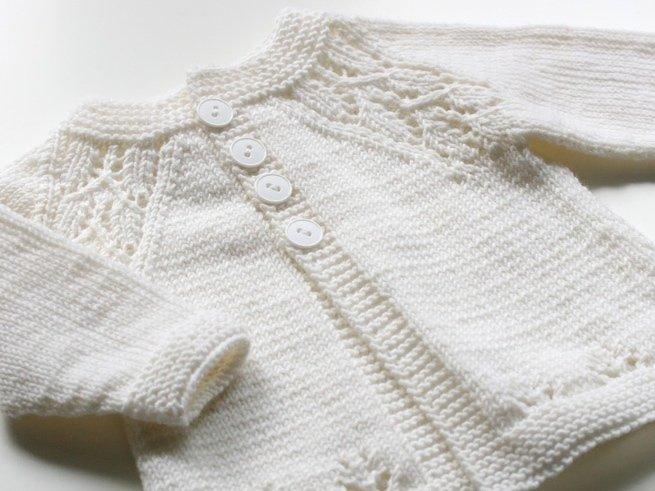Вязание кофточки для новорожденного