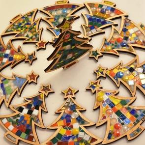 Новогодний мастер-класс по мозаике