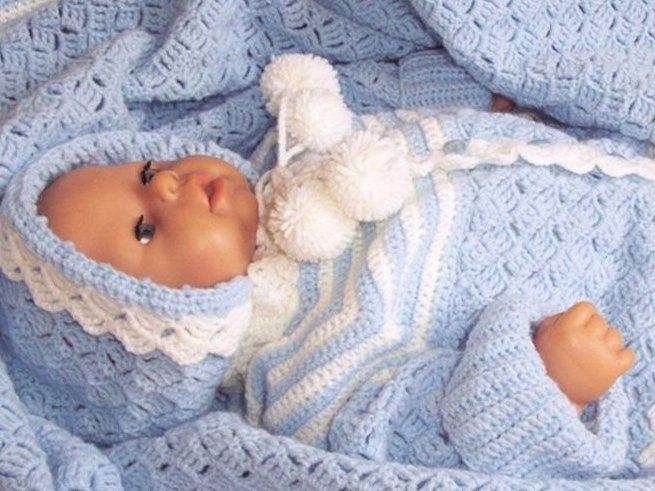 Вязание костюмов для новорожденных