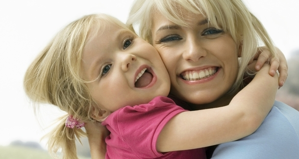 Мамина улыбка - самая красивая!