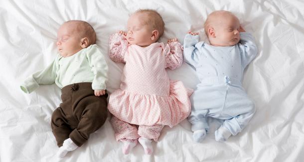 Американка родила тройню, не зная о беременности
