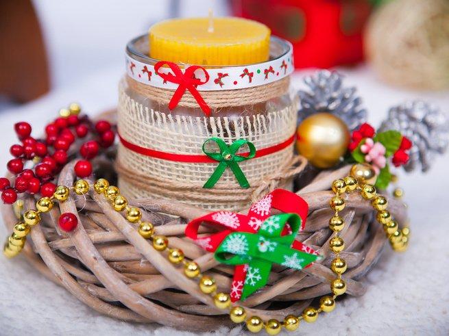 Как декорировать свечи на Новый год