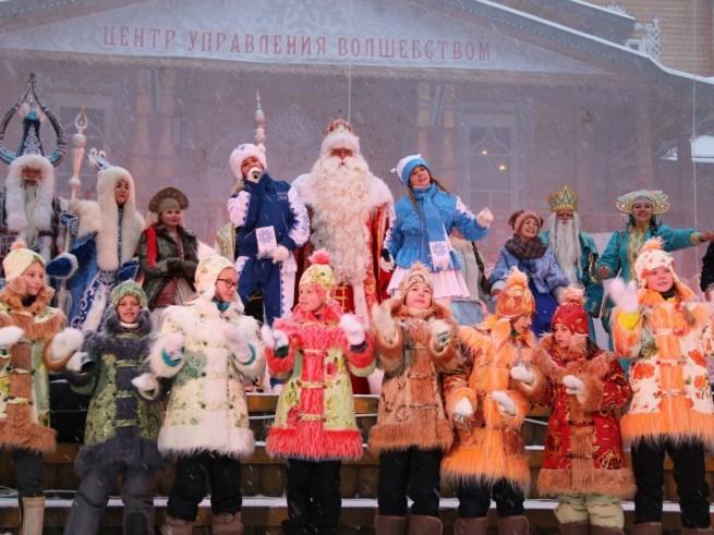Дедушка Мороз из Великого Устюга спешит к жителям «Мастерславля»