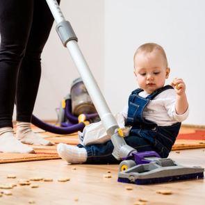Как поддерживать порядок, если в доме младенец