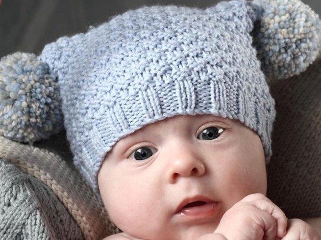 Вязание шапочки для новорожденных