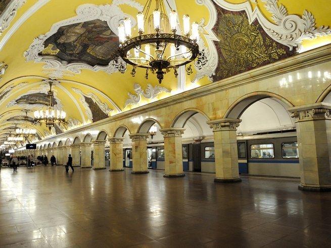 В московском метро появился слон