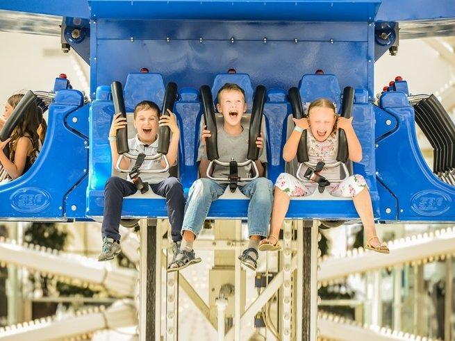 Аттракционы «Happylon» на каникулы снижают цены до 100 рублей