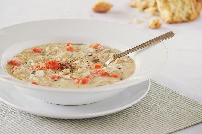 Сливочный суп с диким рисом
