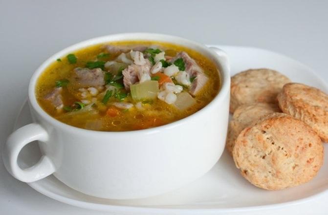 Суп с белыми грибами и перловкой